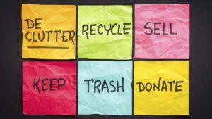 Your Decluttering Cheat Sheet
